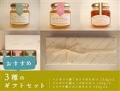 [2箱セット]蜂和産業 おすすめ3種ギフトセット(ハンガリー産アカシアはちみつ、ブルガリア産ローズはちみつ、シチリア産レモンはちみつ 各120g×2)