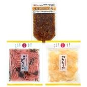 【JRE MALL先行販売】国産野菜&無添加 マルアイ食品 生姜3種セット(生姜ごはんの友・梅酢しょうが・がりしょうが)送料無料