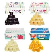 【計92個入/1個32円】ASフーズ 果汁100%ゼリーBOX 4種セット ぶどう/もも/りんご/みかん 23粒×各1箱(計4箱) 送料無料