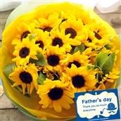 【2020父の日】 父の日ギフト ひまわり30本の花束 6月19-21日の期間でお届け 生花 フラワーギフト 送料無料 FKPP