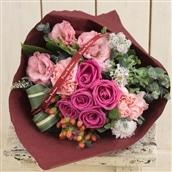 バラの花束 ローズブーケ ピンク系 生花 フラワーギフト 送料無料 誕生日 記念日 お祝い ギフト プレゼント