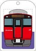 トレインキーホルダー 男鹿線 EV-E801系 赤色