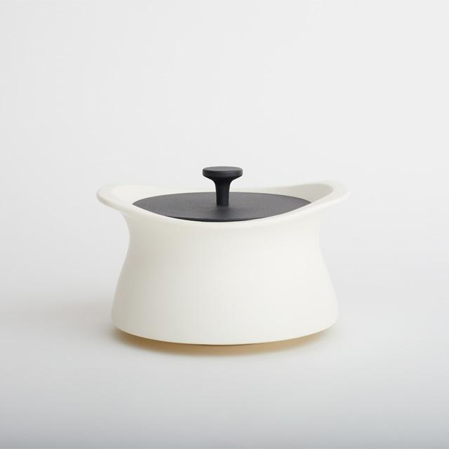best pot 16cm ホワイト 【直火対応】【送料無料】【IH非対応】