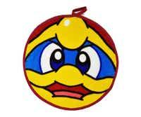 【メール便・送料無料】星のカービィ 【デデデ大王】顔型ループ付タオル(ループタオル)