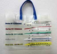 【メール便・送料無料】 新幹線 ビーチバッグ (プールバッグ) (N700系・ドクターイエロー・E5系はやぶさ・E6系こまち・E7系かがやき柄)