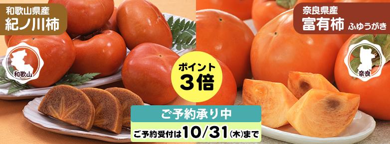 2019年10月チラシ(紀ノ川柿&富有柿)